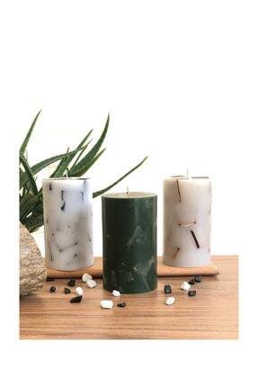 TabSecret Candle Parçacık Tasarımlı 8x13cm Aromalı 3lü Mum Seti 0