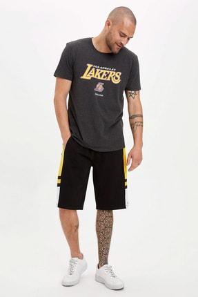 Defacto Erkek Antrasit NBA Lisanslı T-Shirt N7500AZ.20SM.AR160 1