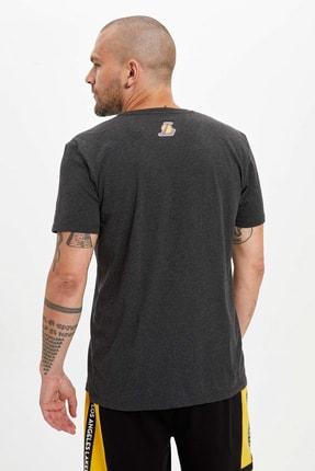 Defacto Erkek Antrasit NBA Lisanslı T-Shirt N7500AZ.20SM.AR160 3