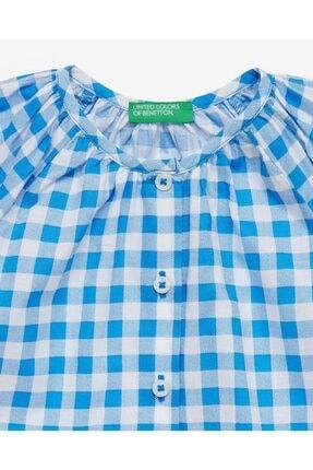 Benetton Renkli Kareli Bluz 1