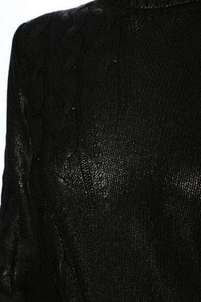 Network Kadın Varaklı Uzun Kol Siyah Kazak 1070893 3