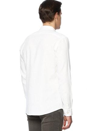 Network Erkek Jakarlı Slim Fit Beyaz Gömlek 1070400 2