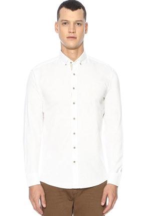 Network Erkek Slim Fit Beyaz Gömlek 1070436 0
