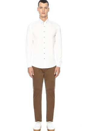 Network Erkek Slim Fit Beyaz Gömlek 1070436 1