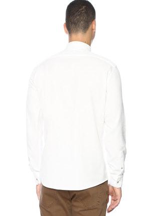 Network Erkek Slim Fit Beyaz Gömlek 1070436 2