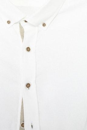 Network Erkek Slim Fit Beyaz Gömlek 1070436 3