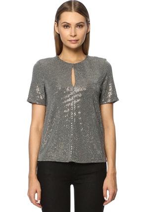 Kadın Regular Fit Altın Rengi Bluz 1070819