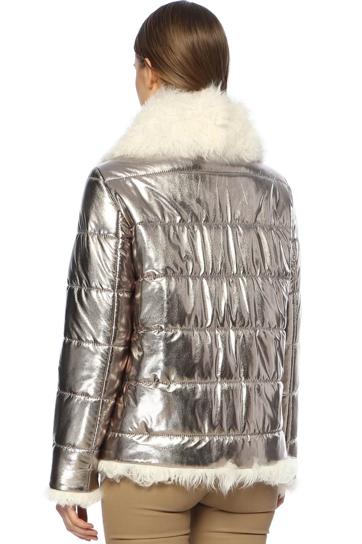 Que Kadın Slim Fit Gümüş Mont 2014781