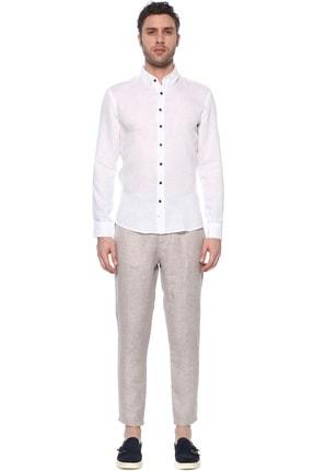 Network Erkek Beyaz Keten Gömlek 1073950 1
