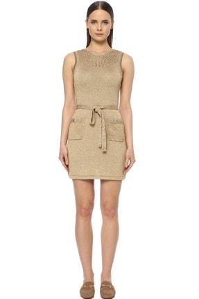 Kadın Altın Rengi Mini Elbise 1073472