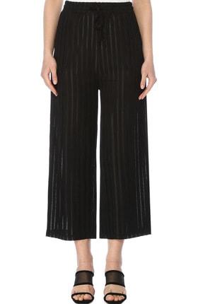 Network Kadın Çizgili Siyah Pantolon 1073847 1