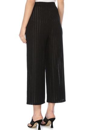 Network Kadın Çizgili Siyah Pantolon 1073847 2