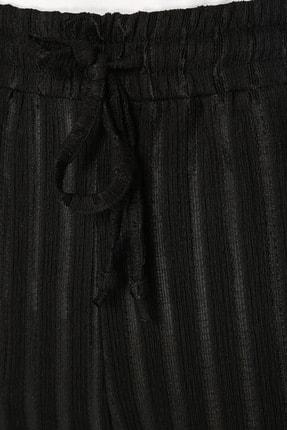 Network Kadın Çizgili Siyah Pantolon 1073847 3