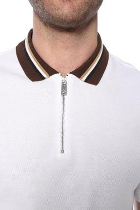 Network Erkek Polo Yaka Beyaz Tshirt 1073719 3