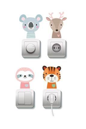 Dekor Loft Çocuk Odası 4 Lü Priz Sticker 0
