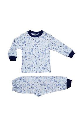 Hece Bebe Dinozor Figürlü Pijama Takımı 0