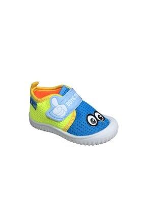 Gezer Erkek Çocuk Mavi -Sarı  Keten Anaokulu Kreş Ayakkabısı 3034Sneaker 0