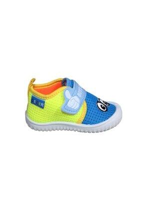 Gezer Erkek Çocuk Mavi -Sarı  Keten Anaokulu Kreş Ayakkabısı 3034Sneaker 1