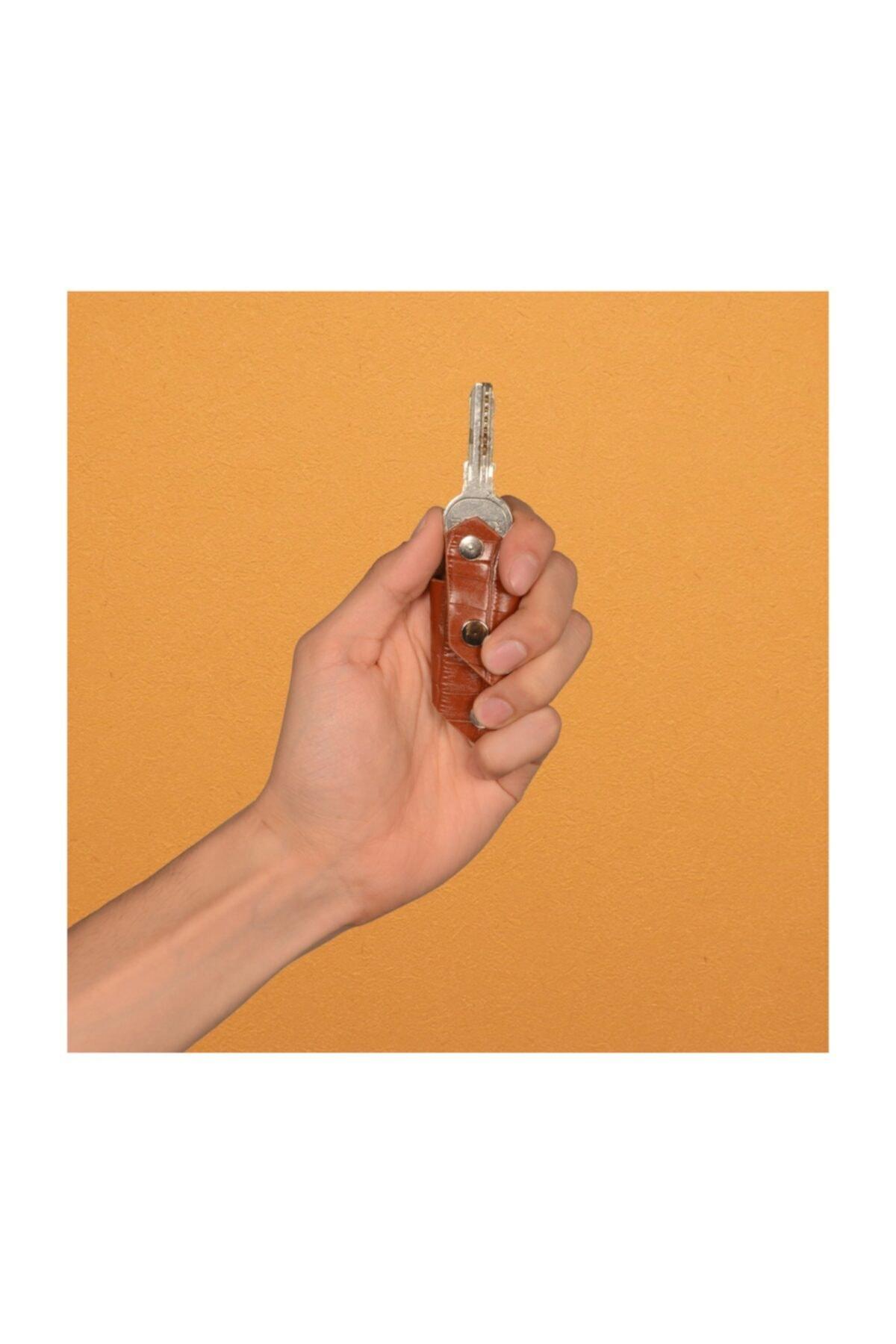 Miniband Akıllı Anahtarlık - Taba Kroko Deri - Minitiny