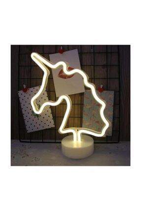 Viselia Unıcorn Görselli Dekoratif Neon Led Masa Ve Gece Lambası 2