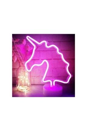 Viselia Unıcorn Görselli Dekoratif Neon Led Masa Ve Gece Lambası 3