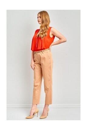 Ekol Kadın Kemerli Likralı Pantolon 2