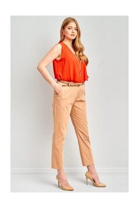 Ekol Kadın Kemerli Likralı Pantolon 3