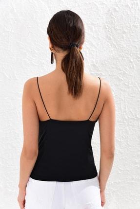 Cool & Sexy Kadın Siyah Degaje Yaka Bluz CY205 4