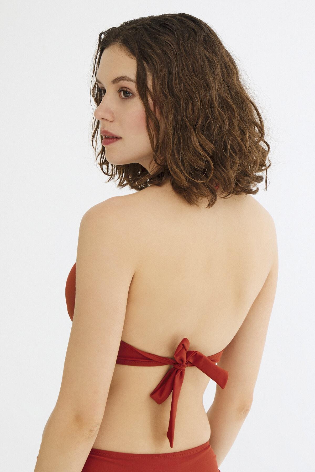 Penti Kadın Turuncu Basic Push Up Bikini Üstü 2