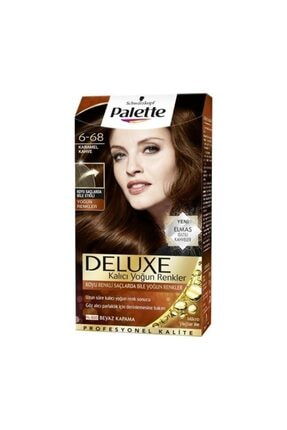 Palette Deluxe 6 68 Karamel Kahve Saç Boyası 0