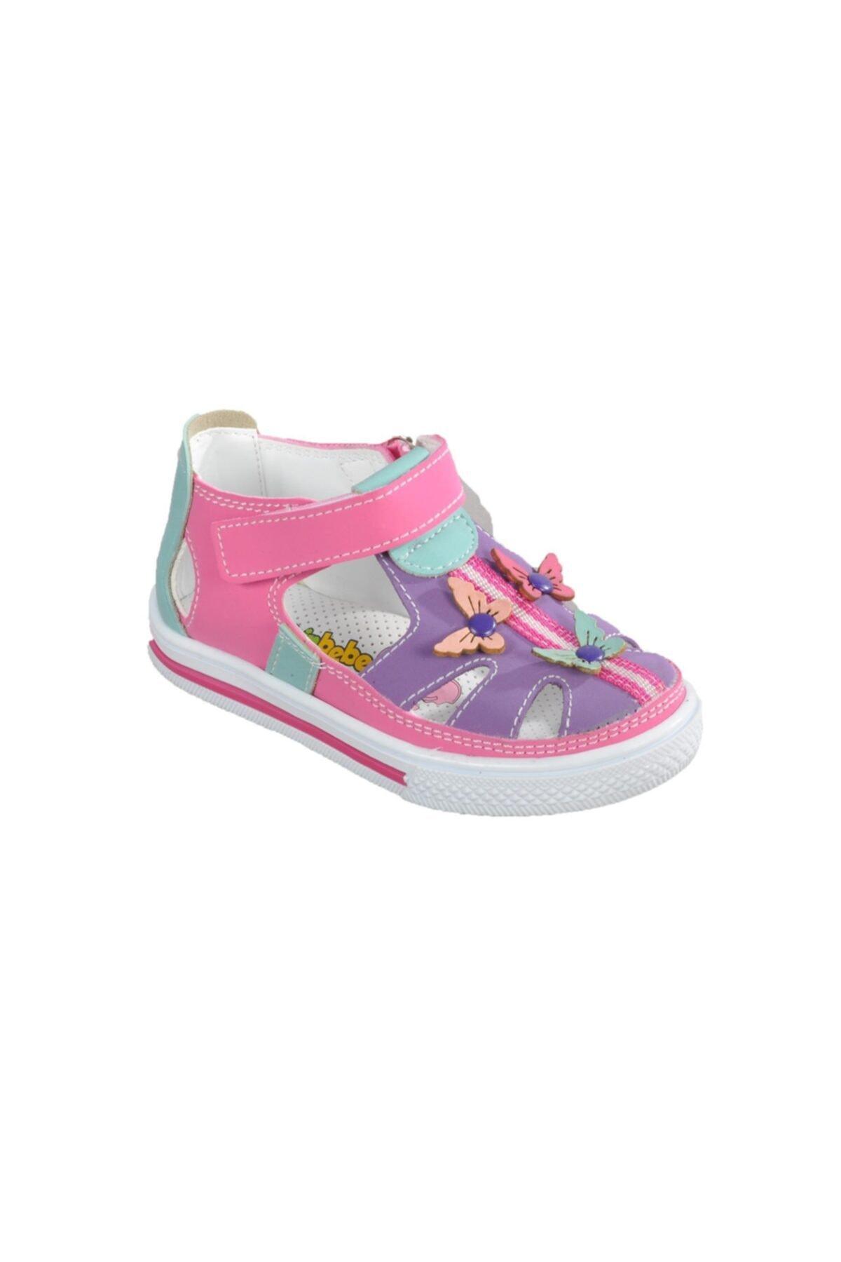 012 Pembe-mor Bebek Ayakkabısı