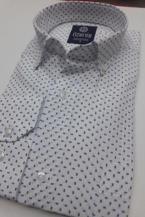 Özeniş Erkek Beyaz Uzun Kollu Regular Fit Gömlek 2
