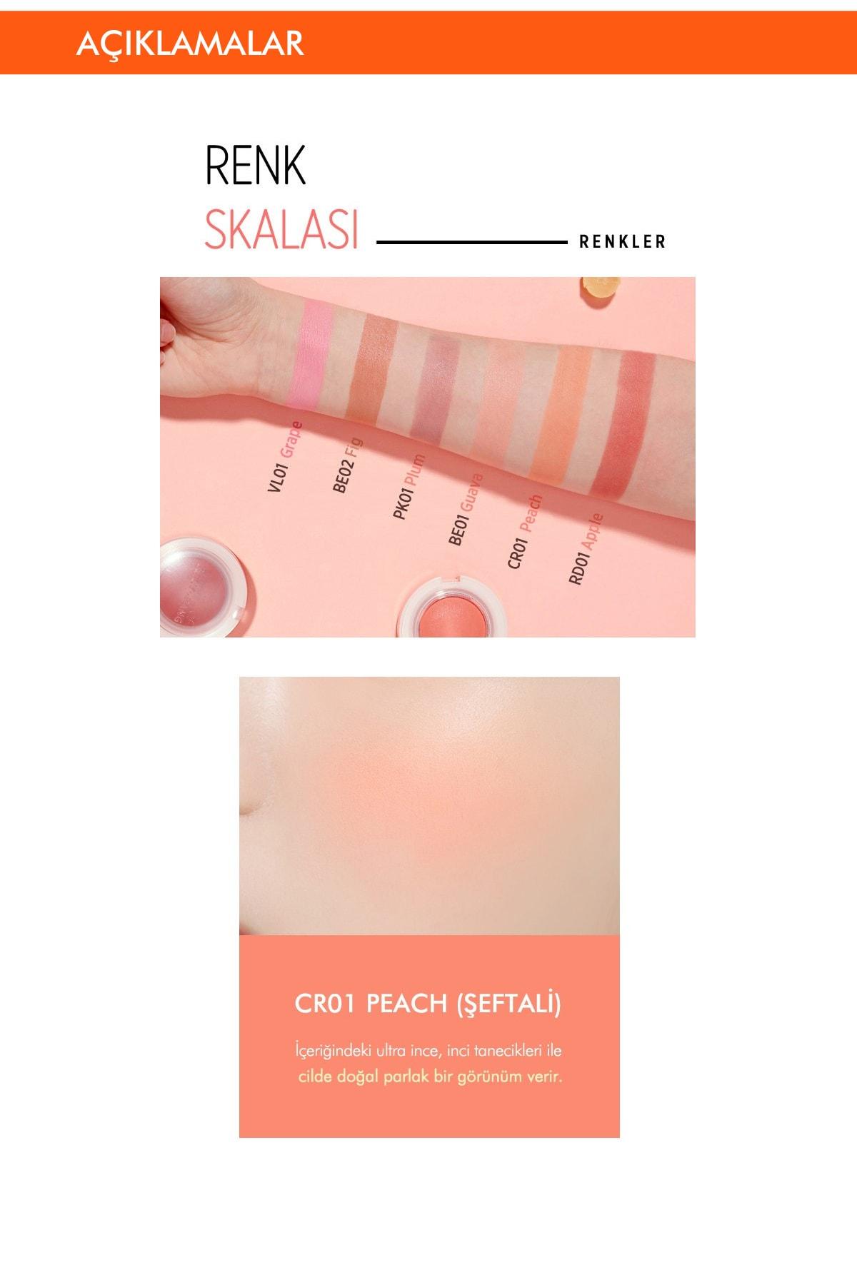Missha Meyve Tonlarında Doğal Görünümlü Jel Allık APIEU Juicy-Pang Jelly Blusher (CR01) 2