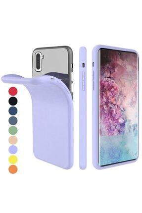 Zipax Samsung Galaxy Note 10 Kılıf -anano Soft Pürüzsüz Renkli Silikon - Mor 0