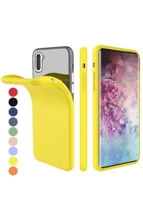 Zipax Samsung Galaxy Note 10 Kılıf -anano Soft Pürüzsüz Renkli Silikon - Sarı 0