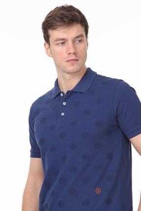 Ramsey Erkek İndigo Desenli Örme T - Shirt RP10119909 1