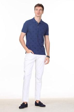 Ramsey Erkek İndigo Desenli Örme T - Shirt RP10119909 2