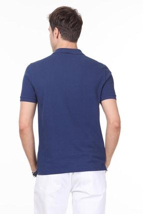 Ramsey Erkek İndigo Desenli Örme T - Shirt RP10119909 3
