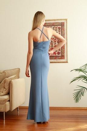 TRENDYOLMİLLA Mavi Yaka Detaylı  Abiye & Mezuniyet Elbisesi TPRSS20AE0311 2