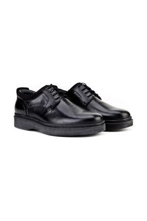 Cabani Bağcıklı Klasik Erkek Ayakkabı Siyah Analin Deri 1