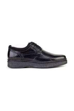 Cabani Bağcıklı Klasik Erkek Ayakkabı Siyah Analin Deri 3