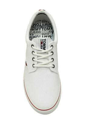 Tommy Hilfiger Erkek Textile Sneaker EM0EM00001 4