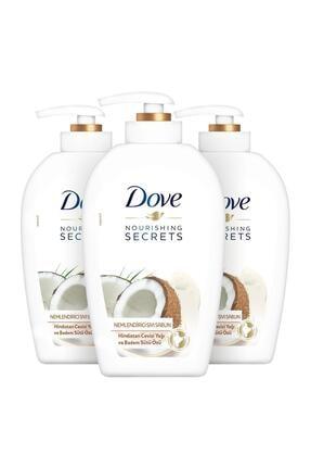 Dove Hindistan Cevizi & Badem Sütü Özlü Nemlendirici Sıvı Sabun 500 ml x 3 Adet 1