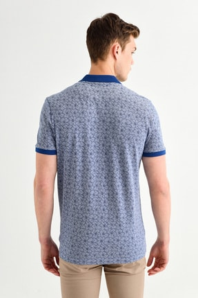 Avva Polo Yaka Çiçek Baskılı T-Shirt 3