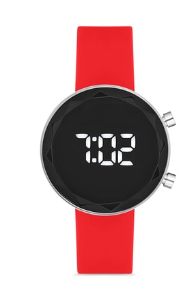 Twelve Kırmızı Renkli Silikon Dijital Kol Saati 0