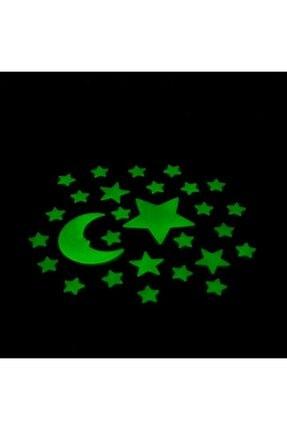 Artikel Ay Yıldızlar Fosforlu Duvar Sticker 30 Adet 0