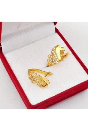 altınplaza Kadın Taşlı Altın Küpe Kp00841 3