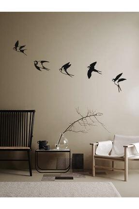 Archtwain Uçan Kırlangıçlar Duvar Dekoru | Kuş Seti Modern Metal Duvar Aksesuarı 4