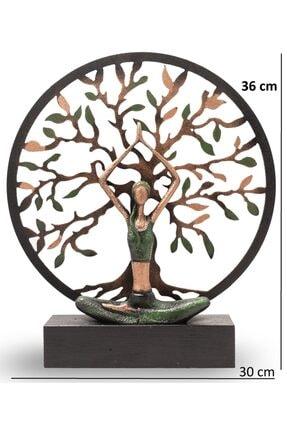 Gift Garden Yoga Yapan Kadın Büyük Yeşil Hayat Ağacı 2
