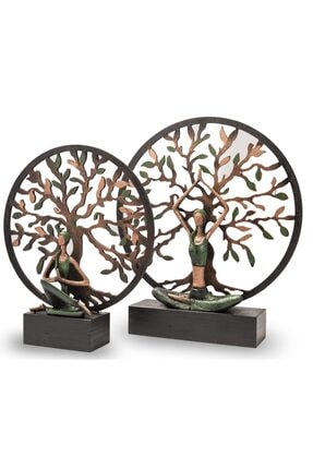 Gift Garden Yoga Yapan Kadın Büyük Yeşil Hayat Ağacı 4